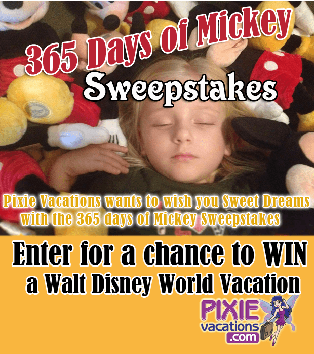 365 Days of Mickey Sweepstakes by Pixie Vacations