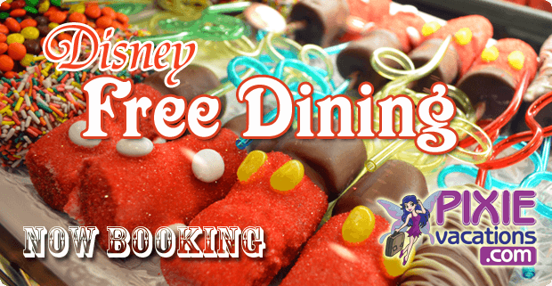 Disney free dining 2014 visa card offer pixie vacations How to get free dining at disney