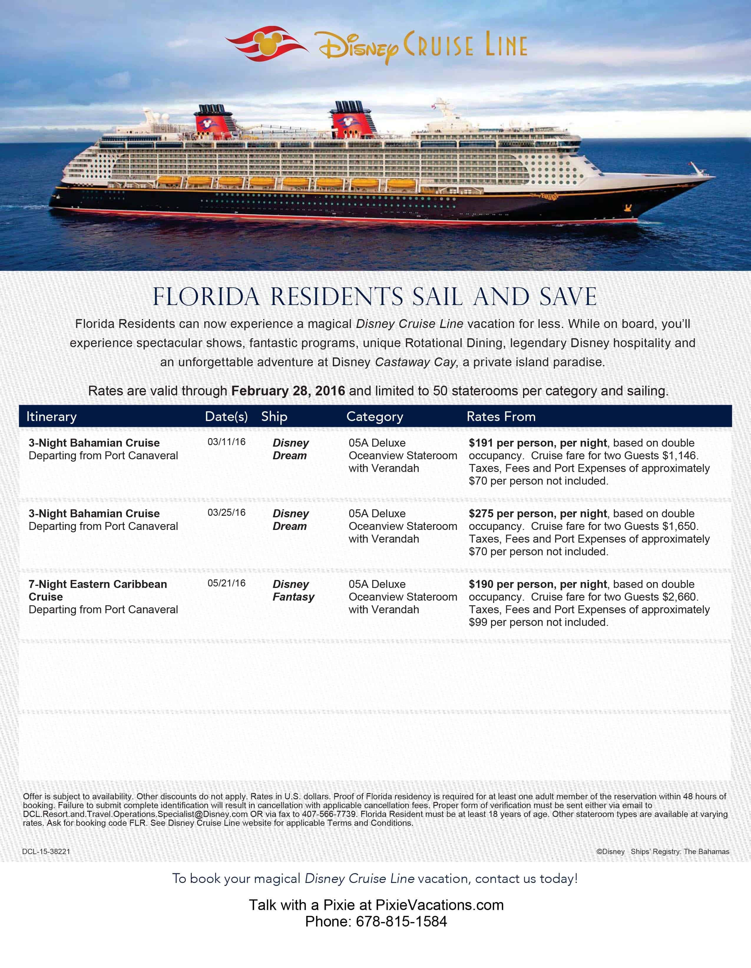 Best cruise deals florida residents