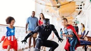 Characters at Marvel Day at Sea